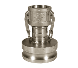 "2025-DA-SS Dixon 2"" x 2-1/2"" 316 Stainless Steel Reducing Cam and Groove Coupler x Adapter"