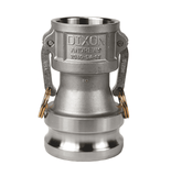 "2030-DA-SS Dixon 2"" x 3"" 316 Stainless Steel Reducing Cam and Groove Coupler x Adapter"