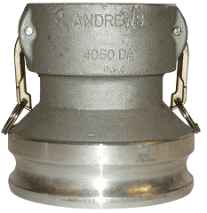 "4050-DA-AL Dixon 4"" x 5"" 356T6 Aluminum Reducing Cam and Groove Coupler x Adapter"