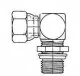 2068-4-4S Internal Pipe Swivel (NPSM) x SAE O-Ring Boss (adj.) - Steel