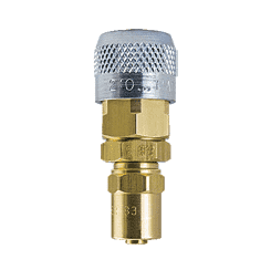 "210-SB7 ZSi-Foster Quick Disconnect 210 Series 1/4"" Automatic Socket - 1/4"" ID x 5/8"" OD - Reusable Hose Clamp - Brass/Steel"