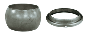 "21010 Dixon 10"" Type A (Agri-Lock) Quick Connect Fitting - Male with Ring for Welding - Unplated Steel"