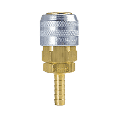 "210M-3603NP ZSi-Foster Quick Disconnect 210 Series 1/4"" Manual Socket - 1/4"" ID - Hose Stem - Brass/Steel Nickel Plated sleeve"