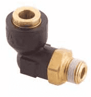 217-43404-03 90 Degree Q-CAB Connection to Male Pipe (1/4 Tube O.D. x 1/4-18 Male Pipe)