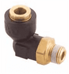 217-40008-03 90 Degree Q-CAB Connection to Male Pipe (1/2 Tube O.D. x 3/8-18 Male Pipe)