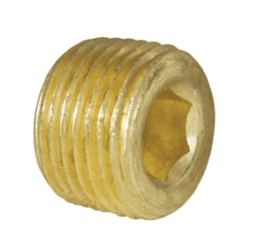 "219-0400 Dixon Brass Hex Socket Plug - 1/4"" NPT Thread Adapter"