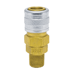 "2402 ZSi-Foster Quick Disconnect Socket - 1/4"" MPT - Brass/Steel"