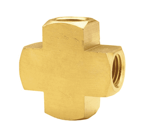 "228-0606 Dixon Brass Pipe Cross - Extruded - 3/8"" Female NPTF"