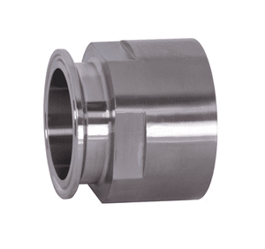 "22MP-R7550 Dixon 316L Stainless Steel Sanitary Clamp x Female NPT Adapter - 3/4"" Tube OD - 1/2"" NPT"