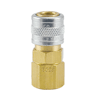 "2302W ZSi-Foster Quick Disconnect Socket - 1/8"" FPT - Brass/SS For Water, Buna-N Seal"