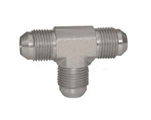 "2603-4 Dixon Zinc Plated Steel Union Tee - (Three) 7/16""-20 Male 37 deg. JIC Flare"