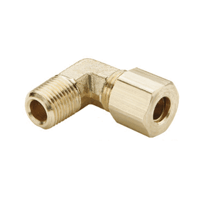 "169C-0302 Dixon Brass Compression Fitting - Male Elbow - 3/16"" Tube Size x 1/8"" Pipe Thread"