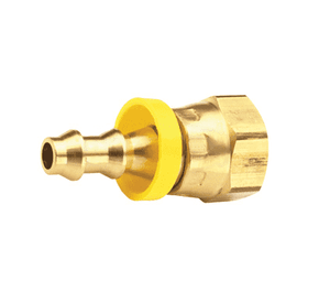"280-0402 Dixon Brass 1/8"" Female NSPM Swivel x 1/4"" ID Push-on Hose Barb Fitting - Gasket Seat Type"