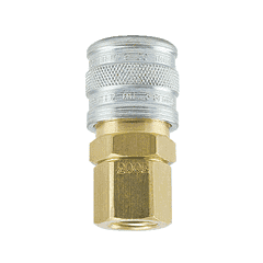 "3003HW ZSi-Foster Quick Disconnect 1-Way Manual Socket - 1/4"" FPT - Brass/SS, For Hot Water, Viton Seal"