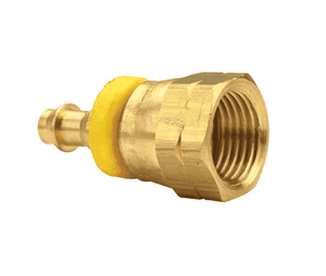 "284-0610 Dixon Brass Female 45 Deg. SAE Swivel Push-on Hose Barb Fitting - 3/8"" Hose ID x 5/8""-18 UNF Thread"