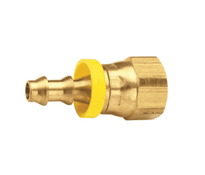 "288-0409 Dixon Brass Female 37 Deg. JIC Swivel Push-on Hose Barb Fitting - 1/4"" Hose ID x 9/16""-18 UNF Thread"
