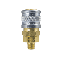 "2903S ZSi-Foster Quick Disconnect 1-Way Manual Socket - 1/8"" MPT - Brass/SS, For Steam, EPDM Seal"