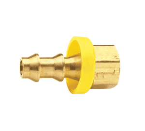 "292-0406 Dixon Brass Rigid Female SAE Push-on Hose Barb Fitting - 1/4"" Hose ID x 3/8""-24 UNF Thread"