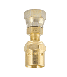 "2D9-S ZSi-Foster Reusable Hose Fitting - Female Swivel w/Nut - 3/8"" ID x 11/16"" OD - Swivel - Brass/Steel"