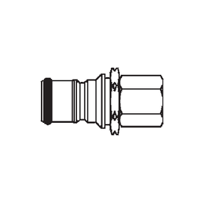 2KIGF16 Eaton 2HKIG Series Male Plug - 1/4-18 Female NPTF End Connection Quick Disconnect Coupling - Buna-N Seal - Stainless Steel