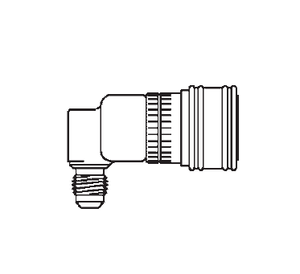 2HIGLLRA720 Eaton 2HKIG Series Female Socket - 7/16-20 Male NPTF End Connection Quick Disconnect Coupling 90 deg. - Buna-N Seal - Stainless Steel