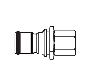 2KILF720 Eaton 2HKIL Series Male Plug - 7/16-20 Female NPTF End Connection Quick Disconnect Coupling - Buna-N Seal - Stainless Steel