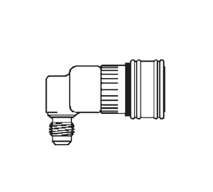 2HILLLRA720 Eaton 2HKIL Series Female Socket - 7/16-20 Male NPTF End Connection Quick Disconnect Coupling 90 deg. - Buna-N Seal - Stainless Steel