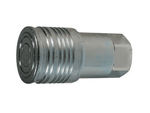 "4HTF4 Dixon 1/2"" Steel Flush Face Hydraulic Quick-Connect NPTF Coupler - 1/2""-14 NPTF Thread"