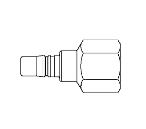 3L16 Eaton 3RL Series Male Plug - 1/4-18 Female NPTF End Connection Pneumatic Quick Disconnect Coupling - Steel