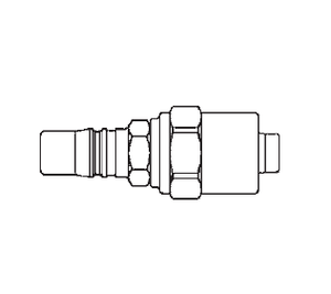 2L23D7 Eaton 2RL Series Male Plug - 3/8 ID - 5/8 OD - Hose Clamp End Connection Pneumatic Quick Disconnect Coupling - Buna-N Seal - Steel