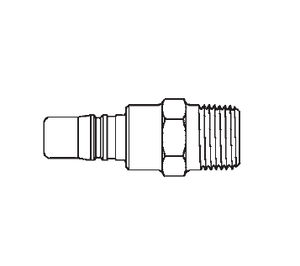 3L25 Eaton 3RL Series Male Plug - 1/2-14 Male NPTF End Connection Pneumatic Quick Disconnect Coupling - Steel