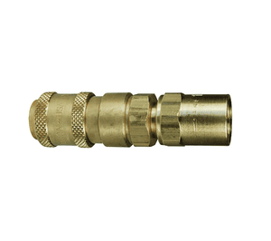 "2AE2-B Dixon Brass A-Series Quick Disconnect 1/4"" Astronautics High Pressure Pneumatic Coupler - Reusable Barb - 1/4"" Hose ID x 1/2"" OD"