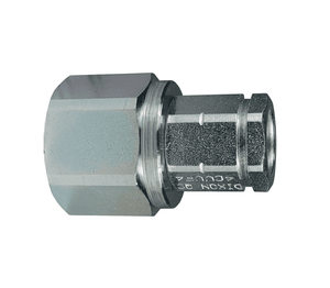 "10CVVF10 Dixon Steel CVV-Series Quick Disconnect 1-1/4"" European Interchange Hydraulic Coupler - 1-1/4""-11-1/2 Female NPTF"