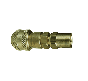 "2DE2-B Dixon Brass DF-Series Quick Disconnect 1/4"" Industrial Interchange Pneumatic Coupler - Reusable Barb - 1/4"" Hose ID x 1/2"" OD"