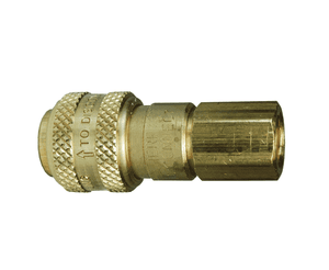 "2DF1-B Dixon Brass D-Series Quick Disconnect 1/4"" Automatic Industrial Interchange Pneumatic Coupler - 1/8""-27 Female NPTF"