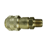 "3DM2-B Dixon Brass D-Series Quick Disconnect 3/8"" Automatic Industrial Interchange Pneumatic Coupler - 1/4""-18 Male NPTF"