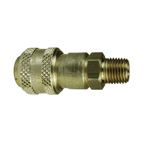 "4DM3-B Dixon Brass D-Series Quick Disconnect 1/2"" Automatic Industrial Interchange Pneumatic Coupler - 3/8""-18 Male NPTF"