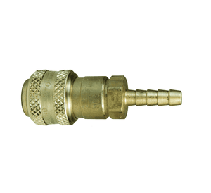 "3DS2-B Dixon Brass D-Series Quick Disconnect 3/8"" Automatic Industrial Interchange Pneumatic Coupler - Standard Hose Barb - 1/4"" Hose ID"