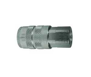 "4FBF4 Dixon Steel F-Series Quick Disconnect 1/2"" Manual Industrial Interchange Pneumatic Coupler - 1/2""-14 Female BSPP"