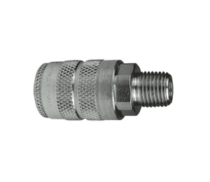 "4FM3 Dixon Steel F-Series Quick Disconnect 1/2"" Manual Industrial Interchange Pneumatic Coupler - 3/8""-18 Male NPTF"