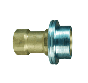 "6HSF6-B Dixon Brass HS-Series Quick Disconnect 3/4"" ISO-B Steam Interchange Hydraulic Coupler - 3/4""-14 Female NPTF"