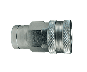"4KF4 Dixon Steel K-Series Quick Disconnect 1/2"" ISO-A Interchange Hydraulic Coupler - 1/2""-14 Female NPTF"