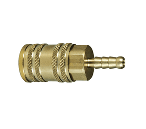 "2MS3-B Dixon Brass M-Series Quick Disconnect 1/4"" Manual ARO Interchange Pneumatic Coupler - Standard Hose Barb - 3/8"" Hose ID"