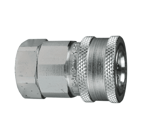 "10VBF10 Dixon Steel V-Series Quick Disconnect 1-1/4"" Snap-Tite H/IH Interchange Valved Hydraulic Coupler - 1-1/4""-11 Female BSPP"