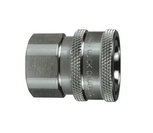 "10VBF10-SS-E Dixon 316 Stainless Steel V-Series Quick Disconnect 1-1/4"" Snap-Tite H/IH Interchange Unvalved Hydraulic Coupler - 1-1/4""-11 Female BSPP"
