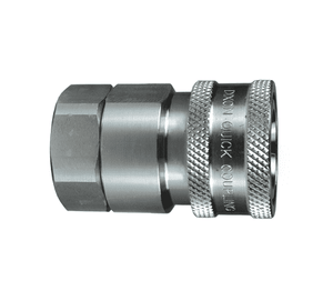 "10VBF10-SS Dixon 316 Stainless Steel V-Series Quick Disconnect 1-1/4"" Snap-Tite H/IH Interchange Valved Hydraulic Coupler - 1-1/4""-11 Female BSPP"