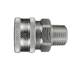 "10VM10-E Dixon Steel V-Series Quick Disconnect 1-1/4"" Snap-Tite H/IH Interchange Unvalved Hydraulic Coupler - 1-1/4""-11-1/2 NPTF Male NPTF"