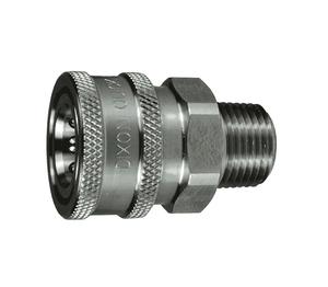 "10VM10-SS-E Dixon 316 Stainless Steel V-Series Quick Disconnect 1-1/4"" Snap-Tite H/IH Interchange Unvalved Hydraulic Coupler - 1-1/4""-11-1/2 NPTF Male NPTF"