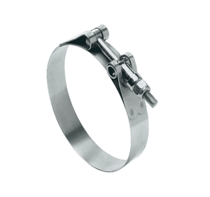 "300210400051 Ideal Tridon 30021 Series - Channel Bridge T-Bolt - 300 Stainless Steel - 3/4"" Band Width - Clamp Range: 4.00"" to 4.31"" - Pack of 10"