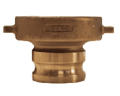 "400-TCA-BR Dixon 4"" Brass Tank Car Adapter - Railroad Thread x Male Adapter"